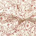 Holly Bush Swirls Red/White