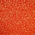 Holly Bush Swirls Gold/Red