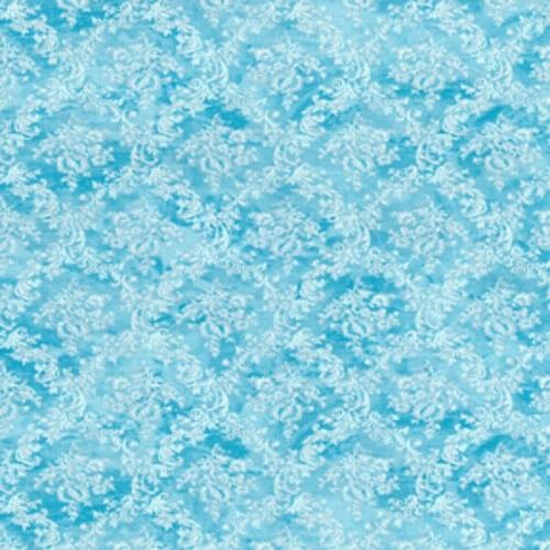 Swirly Vines Diamonds Wallpaper Style 100% Cotton Fabric