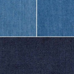4oz Washed Denim Fabric 100% Cotton 145cm Wide