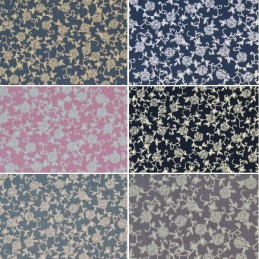 Climbing Roses and Vines Outlines 100% Cotton Poplin Fabric (Fabric Freedom)