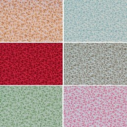 Mini Ditsy Tiny Flowers & Micro Spots 100% Cotton Poplin Fabric (Fabric Freedom)