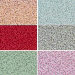 Mini Ditsy Tiny Flowers & Micro Spots 100% Cotton Poplin Fabric (Fabric Freedom)