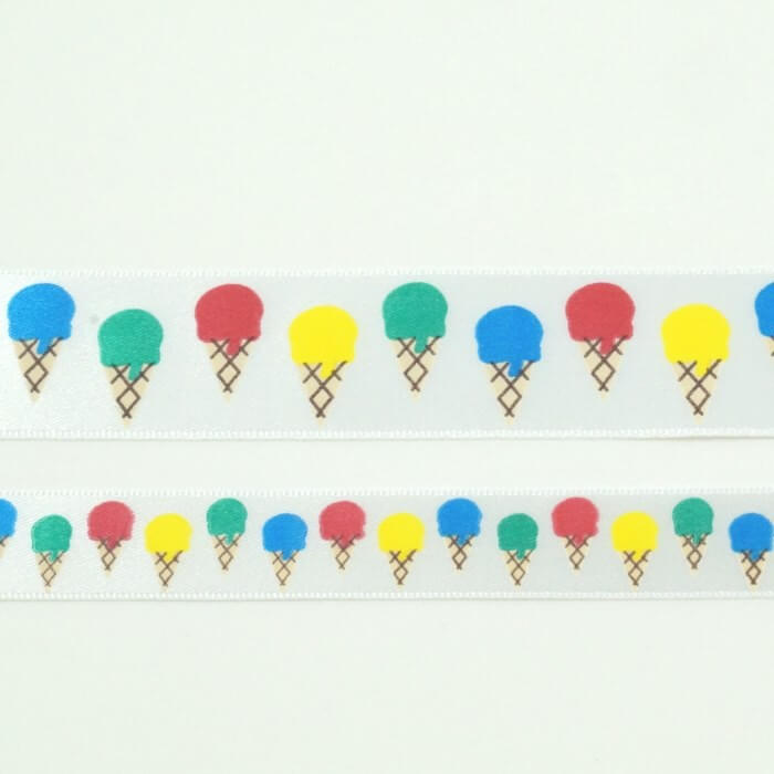 Ice Creams Ribbon 15mm Or 25mm