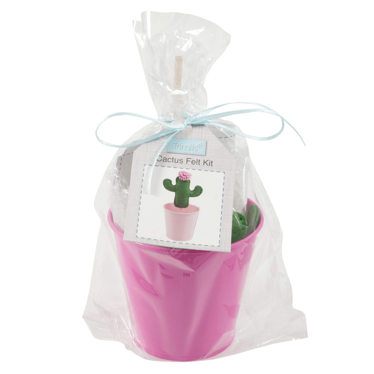Cute Cactus in a Pot Felt Sewing Kit for Beginners Crafting Kits Crafts