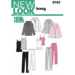 New Look Easy Unisex Sportswear Jacket, Top & Jogging Bottoms Sewing Pattern 6142