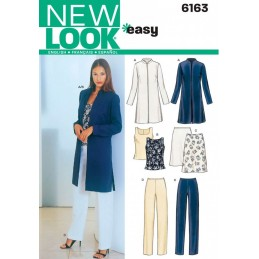 New Look Misses' Jacket, Top, Trousers and Skirt Sewing Pattern 6163