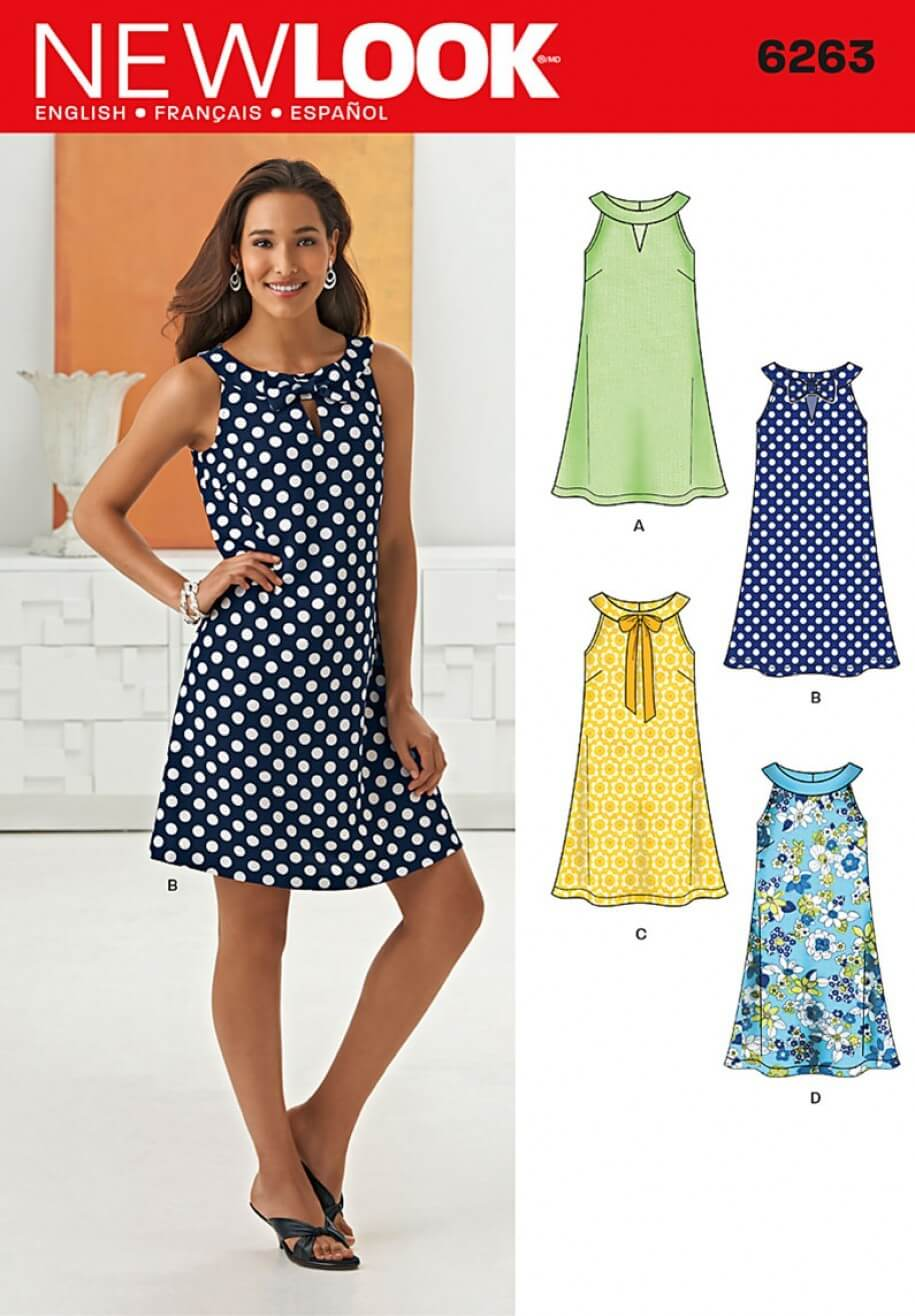 New Look A- Line Dress Sewing Pattern 6263