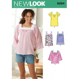 New Look Misses' Pullover Top in Two Lengths Sewing Pattern 6284