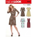 New Look Misses' Mock Wrap Knit Dress Sewing Pattern 6301