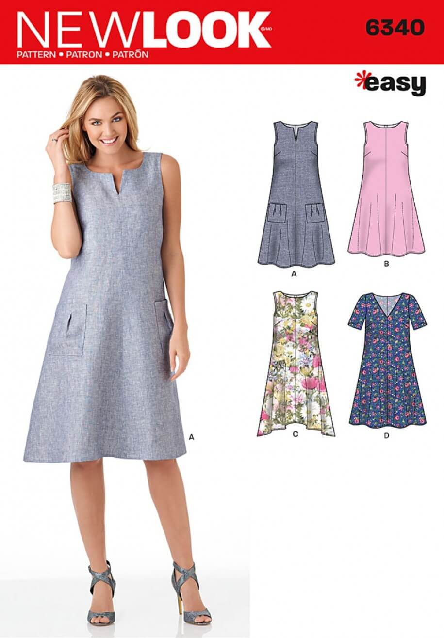 New Look Misses' Easy Dresses Dress Sewing Pattern 6340