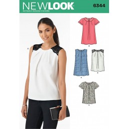 New Look Misses' Tops in Two Lengths Sewing Pattern 6344