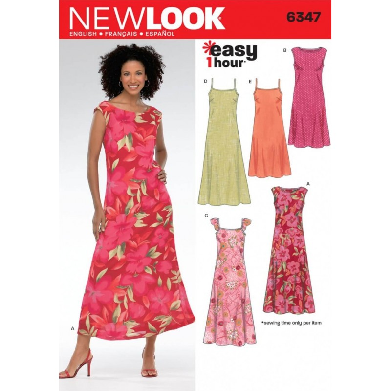 3d483721cac8 New Look Misses' Easy Skirts in Three Lengths Sewing Pattern 6346