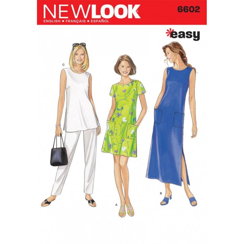 New Look Misses' Dress, Top and Trousers Sewing Pattern 6602