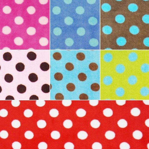 Penny Spot Polka Dots 147cm Super Soft Cuddle Fleece Fabric