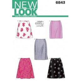 New Look Sewing Pattern 6843 Misses' Skirts 1 Hour Easy to Sew