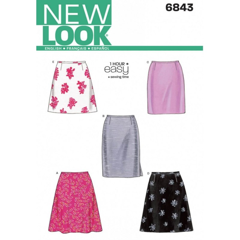 New Look Misses' Skirts Sewing Pattern 6843