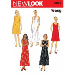 New Look Misses' Dresses Sewing Pattern 6866