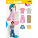 New Look Toddler Shirt, Trousers, Shorts and Skirt Sewing Pattern 6880
