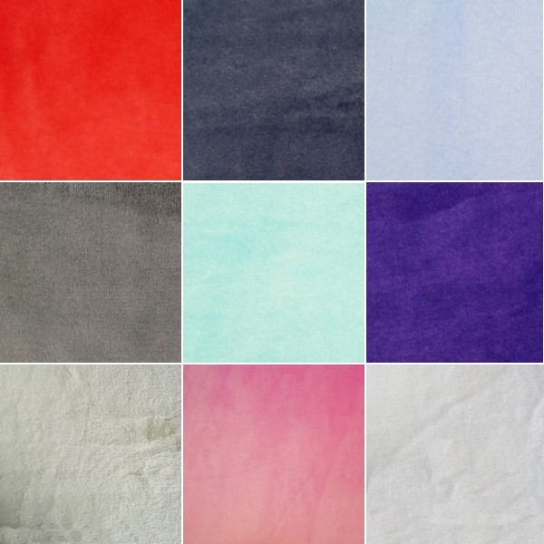 Purple Plain Coloured Super Soft Double Sided Cuddle Fleece Fabric 147cm