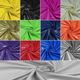 Plain Coloured PVC Polyester Backing Polyurethane Fabric 137cm Wide