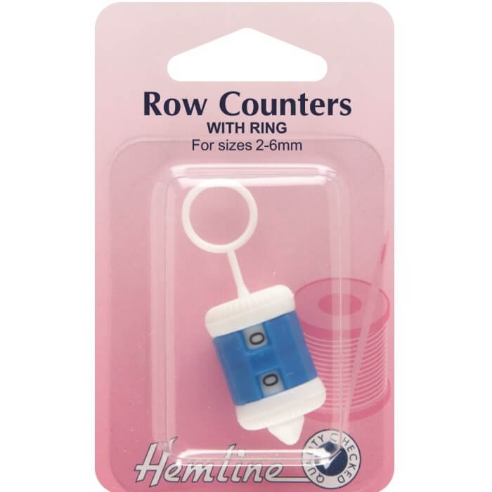 Hemline Knitting  Row Counter With Ring