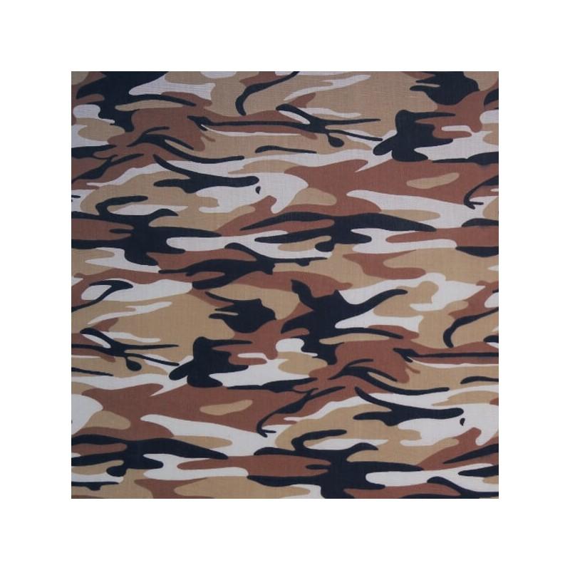 Brown Desert Polycotton Fabric Camouflage
