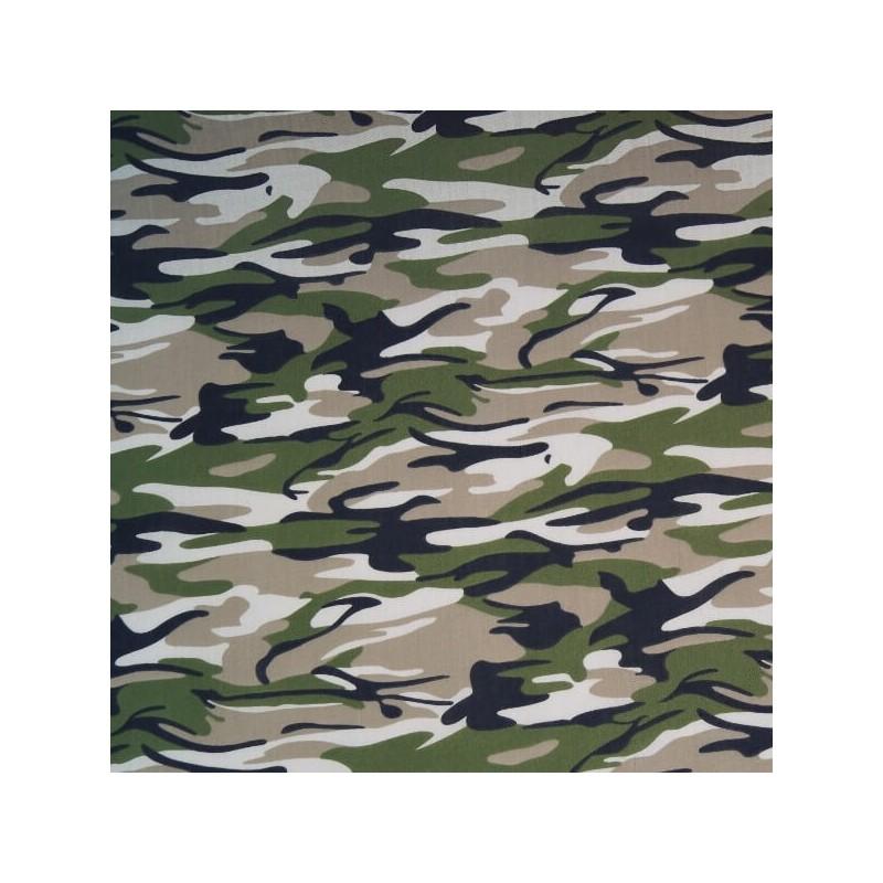 Green Jungle Polycotton Fabric Camouflage