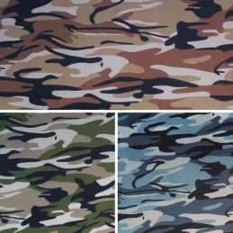 Polycotton Fabric Military Camouflage Army Urban