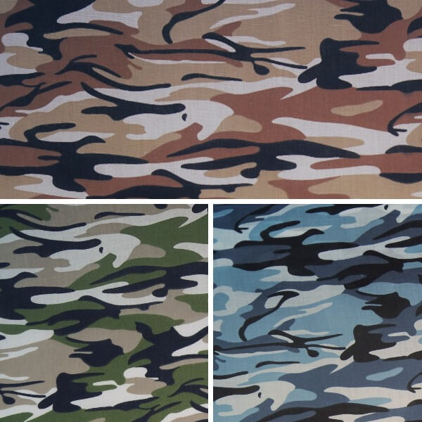 Brown Desert Polycotton Fabric Camouflage