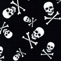Black & White Collection Skull & Crossbones 100% Cotton Patchwork Fabric