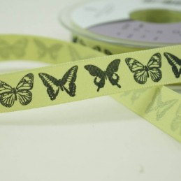 Couture Dancing Butterflies Ribbon 2m x 15mm In Sky, Pink, Pumice, Kiwi
