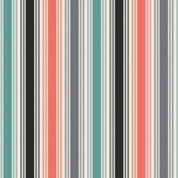 Melvin's Bright Coloured Multi Stripes Lines 100% Cotton Fabric (Makower)