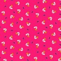 Papillon Hand Stitched Birds & Love Hearts 100% Cotton Fabric (Makower)