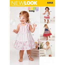 New Look Sewing Pattern 6353 Babies' Dresses and Bloomers Pants
