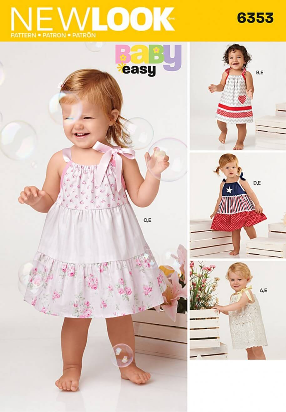 New Look Babies' Dresses and Panties Sewing Pattern 6353