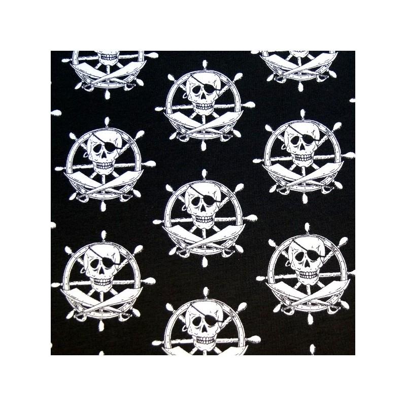 Kings Of The Sea Skull & Crossbones On Helms Cotton Elastane Jersey Fabric (P)