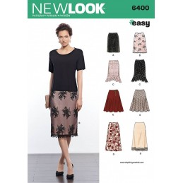 New Look Misses' Skirts in Various Styles Sewing Pattern 6400