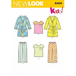 New Look Toddlers' Separates Casual Trouser Tops & Robe Sewing Pattern 6405