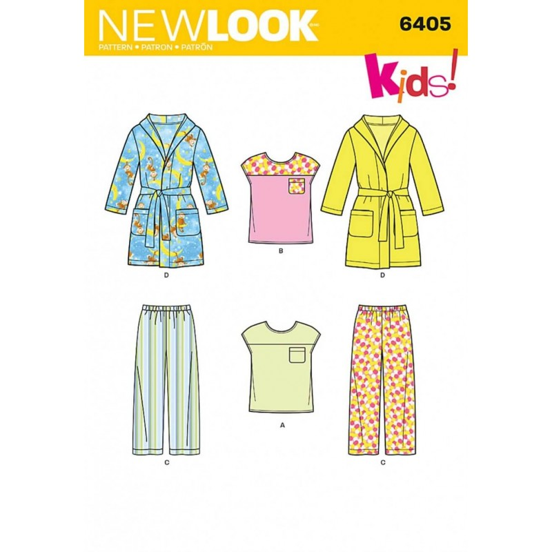 New Look Toddlers\' Separates Casual Trouser Tops & Robe Sewing Patt...