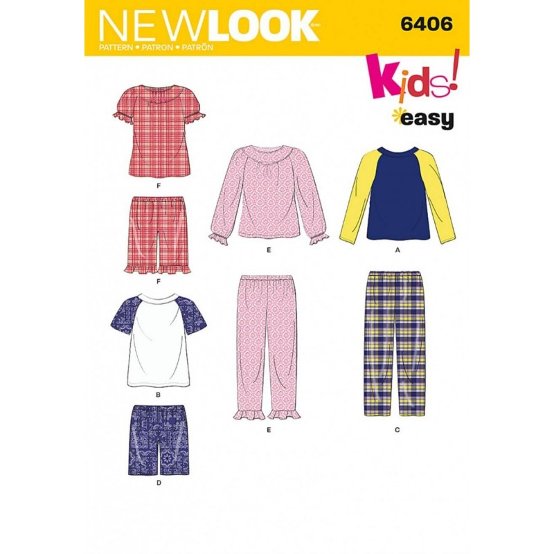 New Look Children's Separates Casual Trousers Tops & Shorts Sewing Pattern 6406