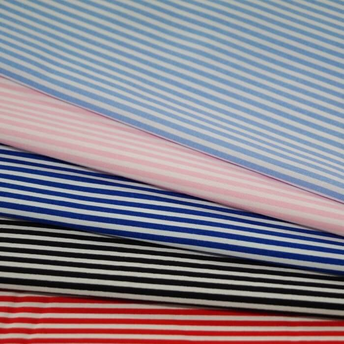 Pink 100% Cotton Poplin Fabric Rose & Hubble 3mm Candy Stripes