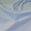 Light Blue 100% Cotton Poplin Fabric Rose & Hubble 3mm Candy Stripes