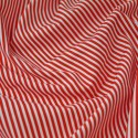 Red 100% Cotton Poplin Fabric Rose & Hubble 3mm Candy Stripes