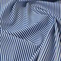 Royal Blue 100% Cotton Poplin Fabric Rose & Hubble 3mm Candy Stripes
