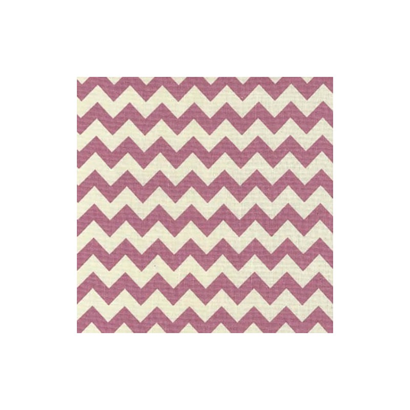 Pink 8mm Chevrons Stripes Lines Linen Look Cotton Fabric Patchwork