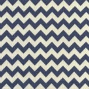 Navy 8mm Chevrons Stripes Lines Linen Look Cotton Fabric Patchwork