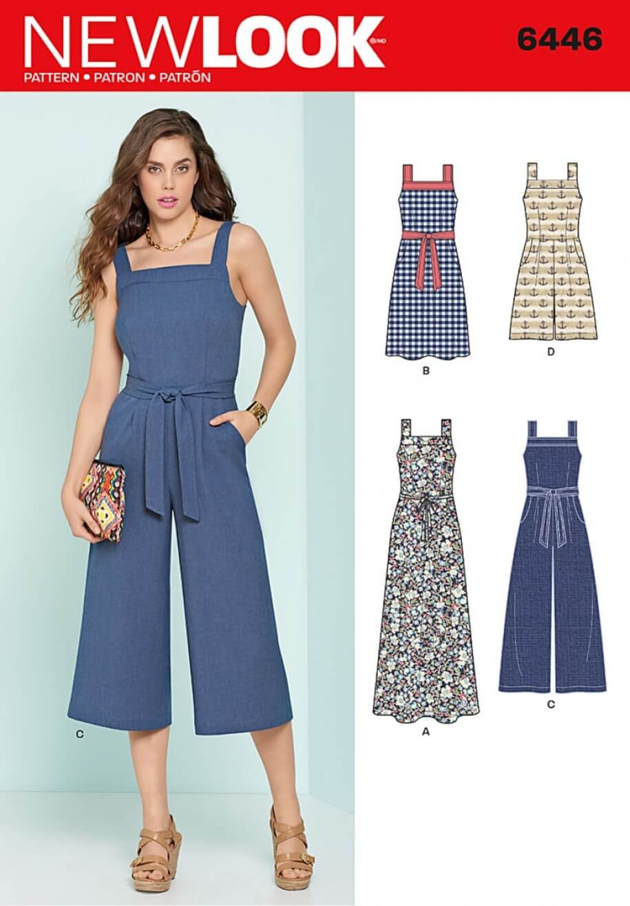 New Look Misses' Wide Leg Jumpsuits and Flare Dresses Sewing Pattern 6446