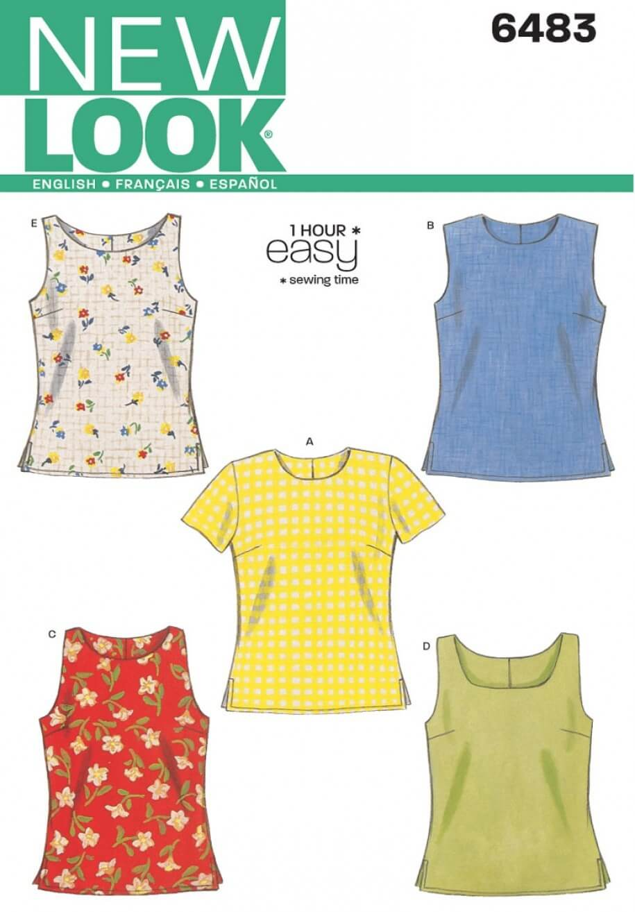 New Look Misses Quick & Easy Sew Fitted Tops Sewing Pattern 6483