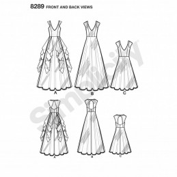 Misses' Special Occasion Dresses Bridal Formal Simplicity Sewing Pattern 8289